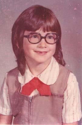 Michelle in Grade School.